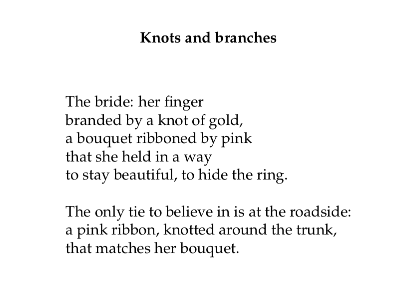Final draft of Knots and branches